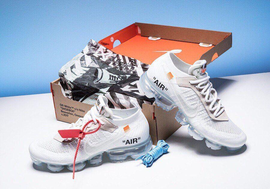 кроссовки OFF-White Nike Vapormax белые