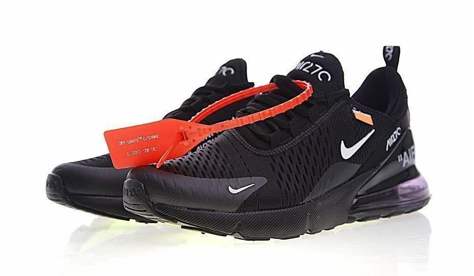 кроссовки  Off White x Nike Air Max 270 (Black)