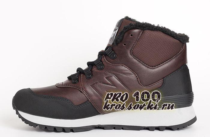 Высокие кроссовки на меху New Balance 755 коричневые