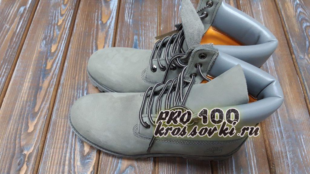 Мужские осенние Timberland 6 Inch Premium Waterproof Boots серые