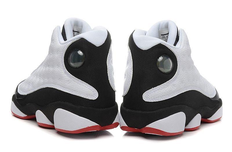 кроссовки Air Jordan 13 (белый/черный)