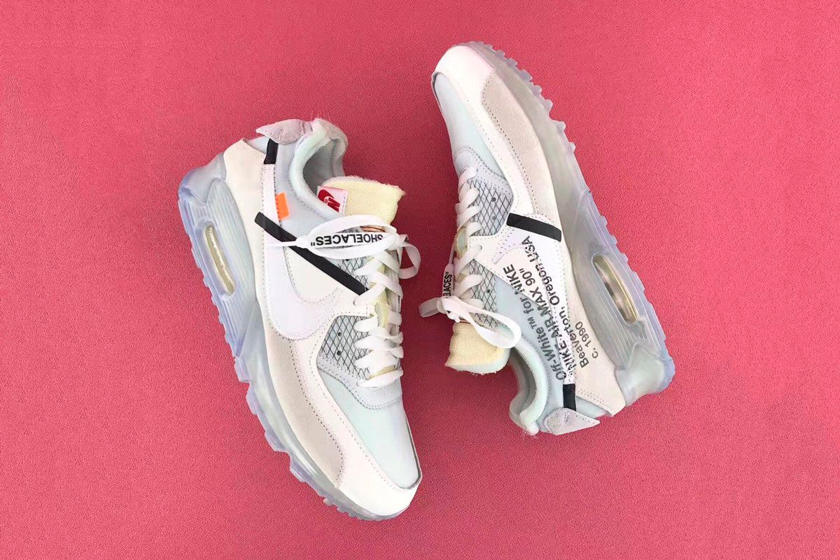 Кроссовки Off-White x Nike Air Max 90 Ice white