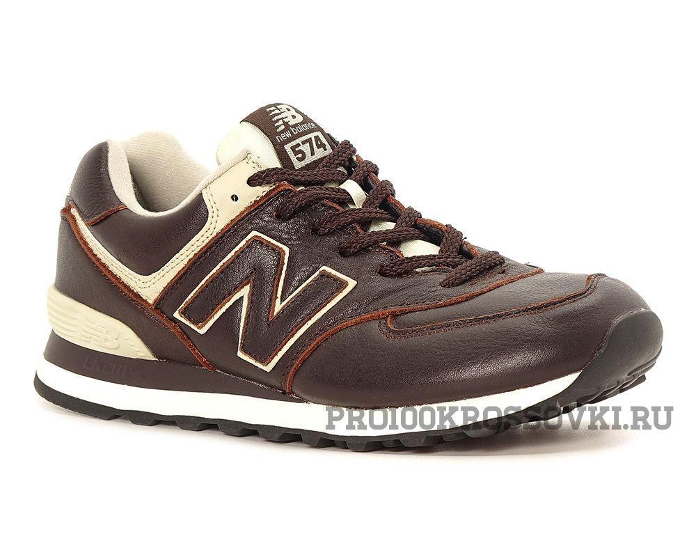 Мужские кожаные кроссовки New Balance 574 Leather ML574LUA