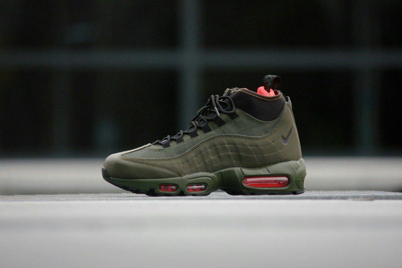 ... Кроссовки мужские Nike Air Max 95 Sneakerboot оливковые ... 988d2ad46c8