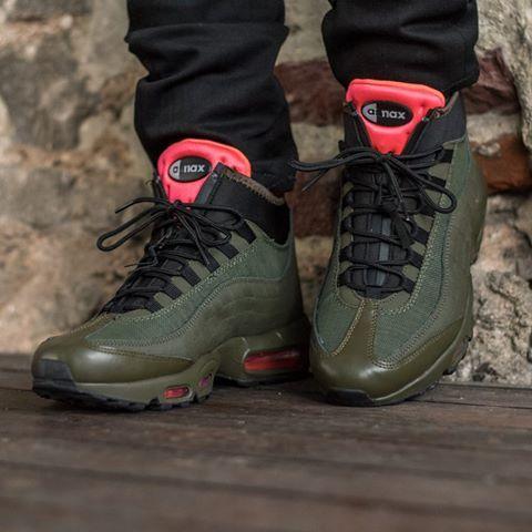 ... Кроссовки мужские Nike Air Max 95 Sneakerboot оливковые 7579c0fc7e2