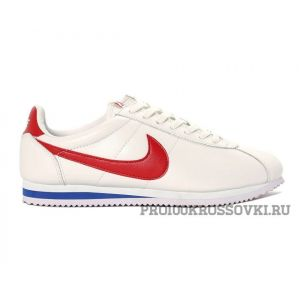Мужские кроссовки Nike Cortez Leather WhiteRed