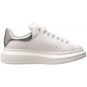 Женские кроссовки Alexander McQueen с серебярным задником