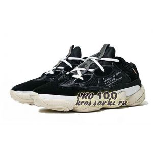 кроссовки Off White x Adidas Boost 500 Black-White
