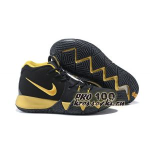 Nike Kyrie 4 Black Gold Basketball Shoes 2018