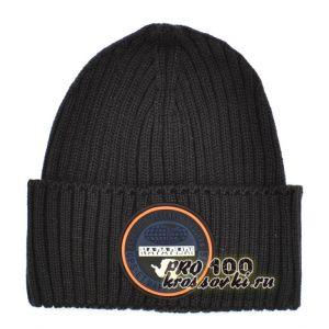 Зимняя мужская шапка Napapijri вязаная черная