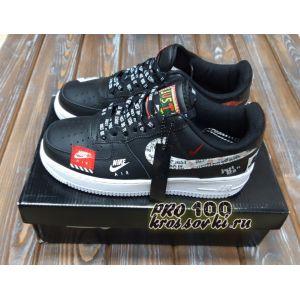 "Nike Air Force 1 '07 Premium ""JUST DO IT"" In Black"