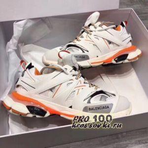 Кроссовки Balenciaga Track White Orange
