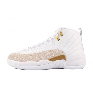 кроссовки Air Jordan 12  Ovo ( White Gold )