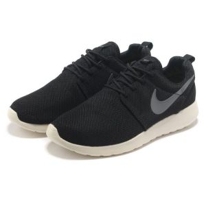 кроссовки Nike Roshe Run Men (Black/Silver/White)