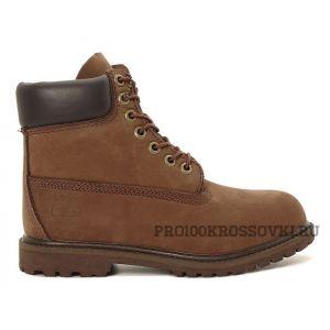 Timberland 6 Inch Premium Waterproof Boots (Dark Chocolate Nubuck)