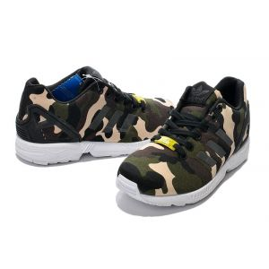 кроссовки Adidas ZX Flux Camo Pack (Dark Green/Black/Beige)