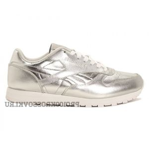 Женские кроссовки Reebok Classic Leather x Face Stockholm Silver