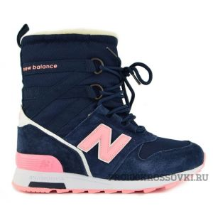 New Balance Snow Boots Women (Dark Blue/Light Pink)