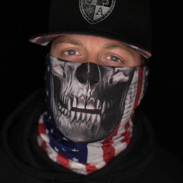 Бандана - бафф SA American Flag Skull