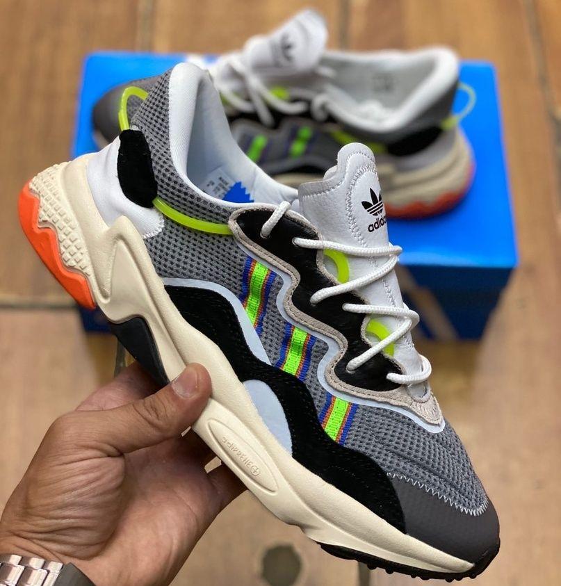 кроссовки Adidas Ozweego Grey Green