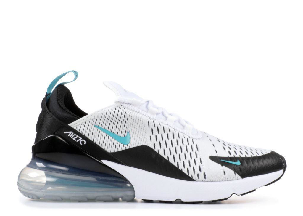 "Кроссовки Nike Air Max 270 ""Teal"" белые с черным"