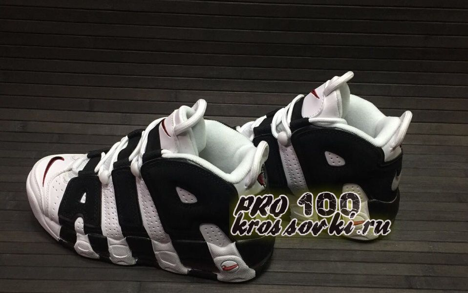 Кроссовки Nike Air More Uptempo White Black