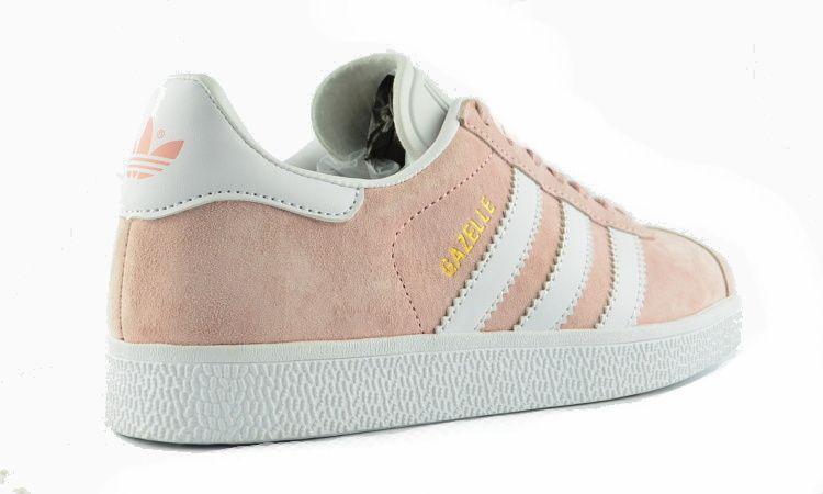 Женские кроссовки Adidas Gazelle персиковые