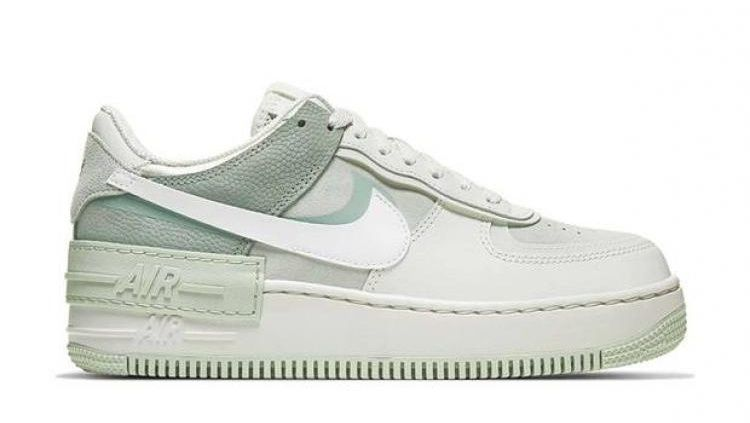 Женские кроссовки Nike Air Force 1 Shadow White Green