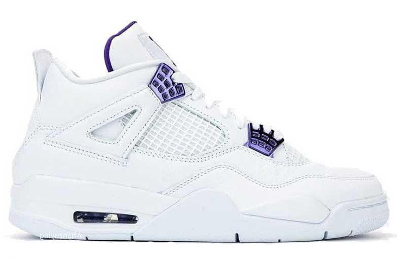 Женские кроссовки Jordan 4 Retro Metallic Purple