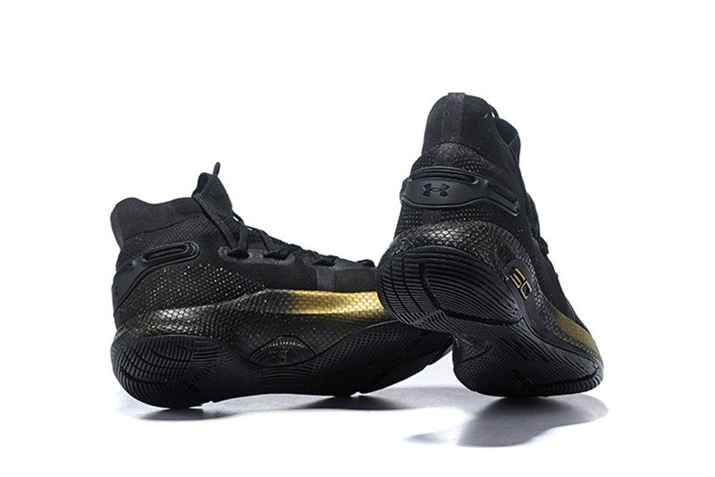 Under Armour Curry 6 High Cushioning Basketball Shoes Black / Gold
