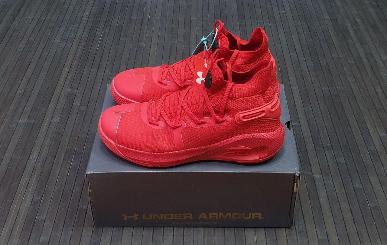 кроссовки Under Armour Curry 6 Red High