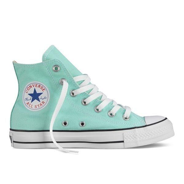 Кеды Converse высокие (зеленые)