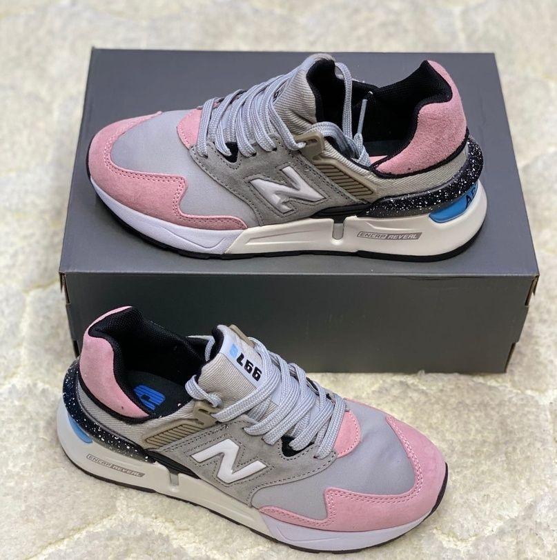 кроссовки женские New Balance 997 серо-розовые