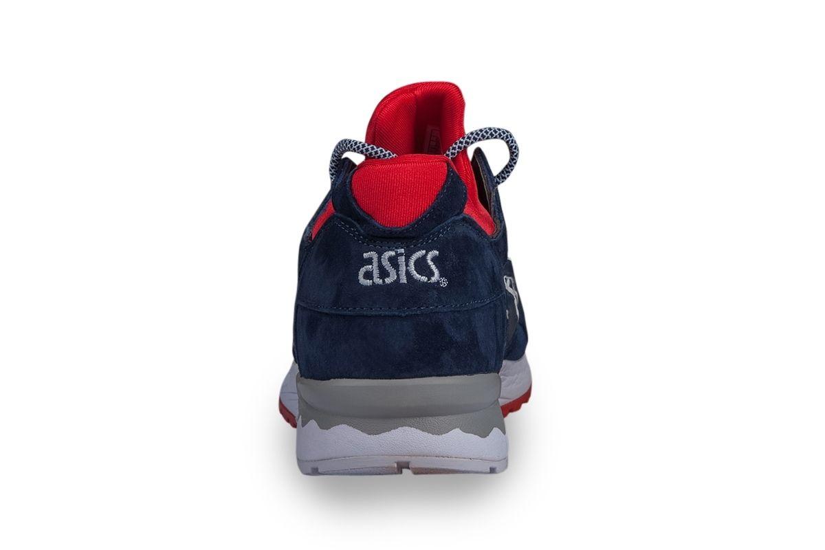 Купить мужские кроссовки Asics Gel Lyte 5 (синие/красн)