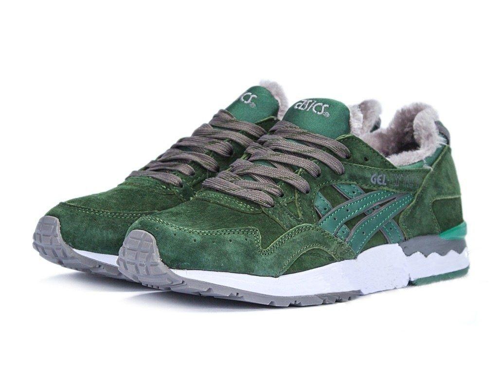 Купить мужские кроссовки Asics Gel Lyte 5 зимние зеленые