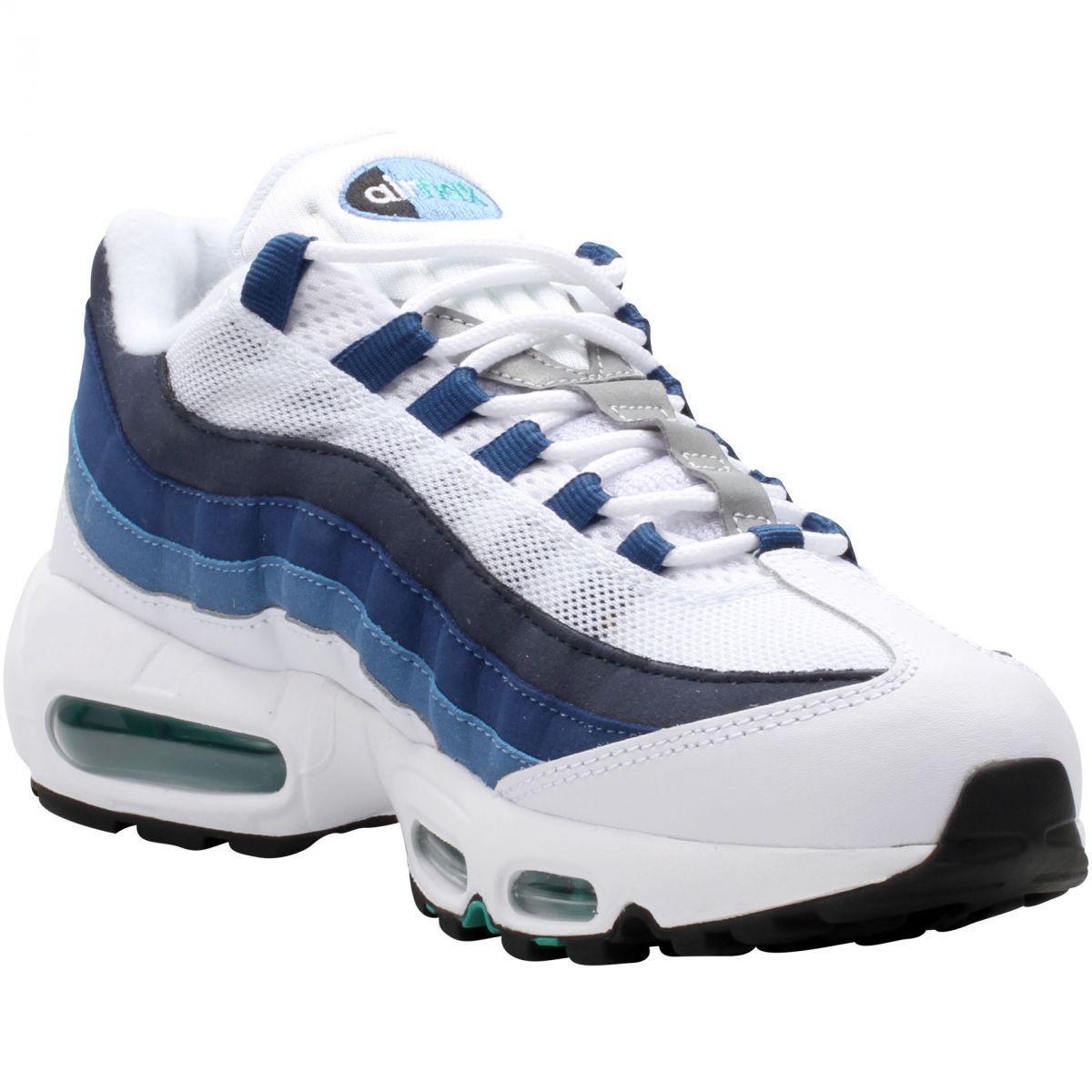 Кроссовки Nike Air Max 95 женские бело-синие