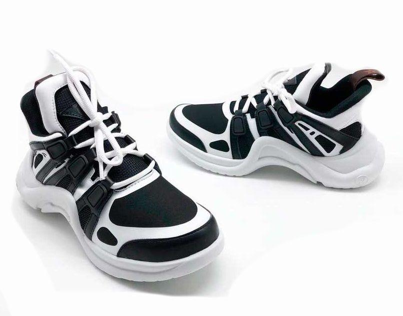 Женские кроссовки Louis Vuitton Archlight Sneaker Black-White