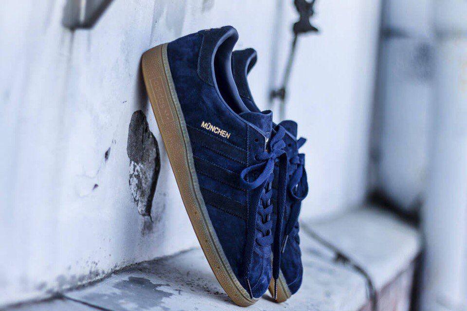 кроссовки Adidas Munchen светло-синие