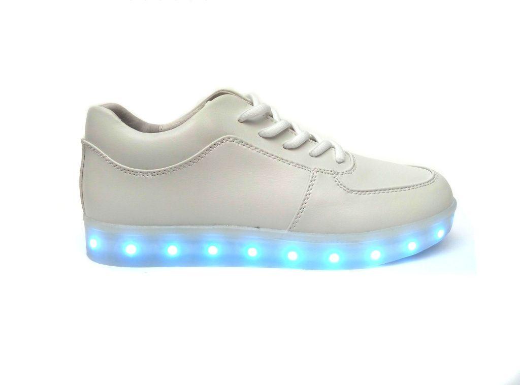 светящиеся кроссовки SIMULATION белые