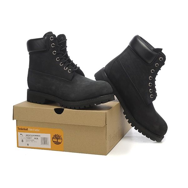 Timberland 6 Inch Premium Waterproof Boots (Black Nubuck)