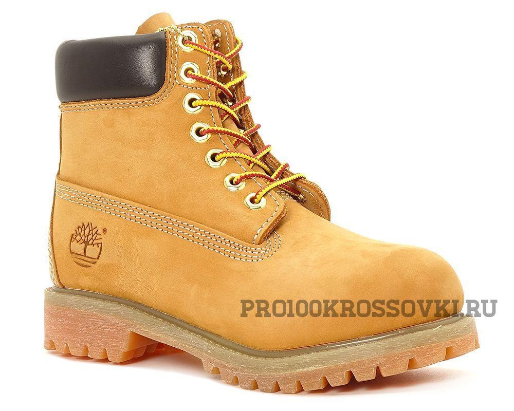Зимние ботинки на меху Timberland 6 Inch Premium Waterproof Boots песочные