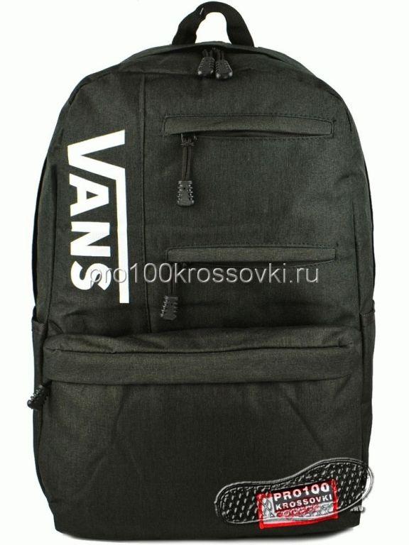 Рюкзак городской Vans черный с белым лого -2