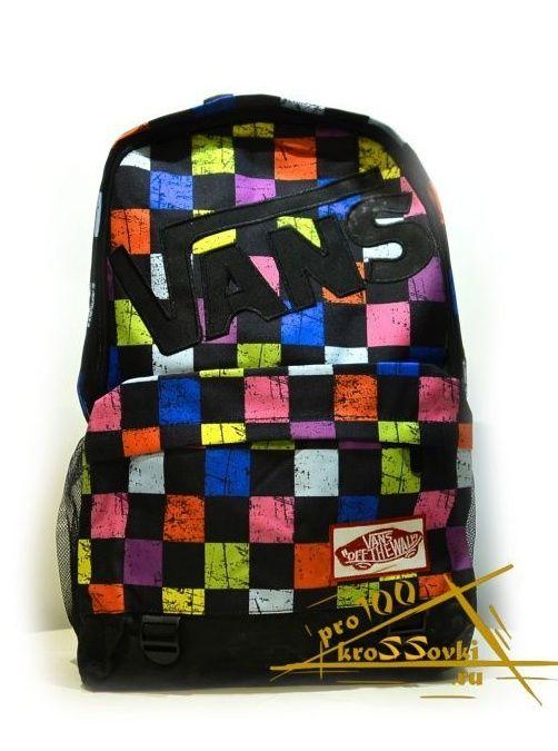 """рюкзак Vans """" цветная клетка """""""