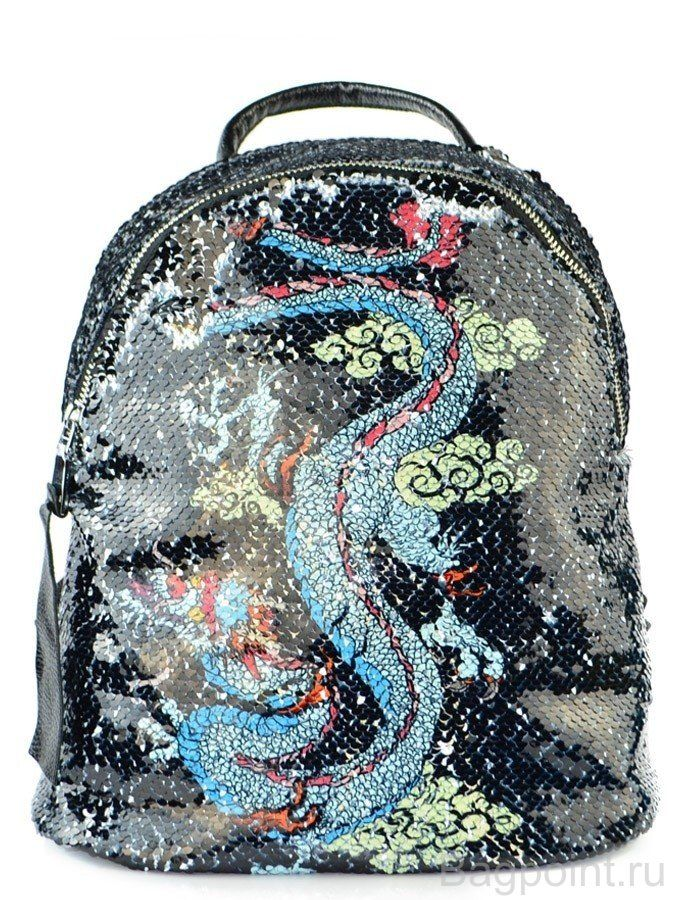 """Рюкзак с пайетками, меняющий рисунок """"Тигр и дракон"""""""