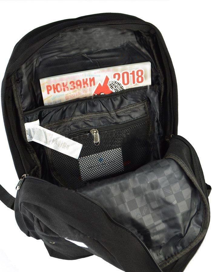Молодежный рюкзак Vans черно-бордовый