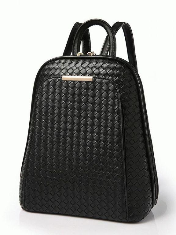 Черный женский кожаный рюкзак Verlo v-2