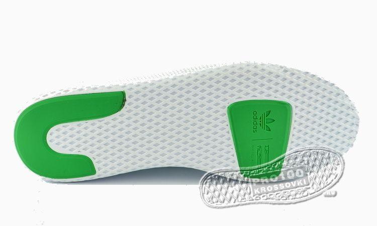 Мужские кроссовки Adidas x Pharrell Williams Tennis Hu Primeknit White