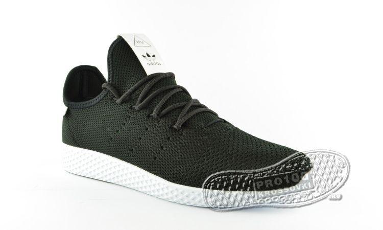 Кроссовки Adidas x Pharrell Williams Tennis Hu Primeknit Black/White