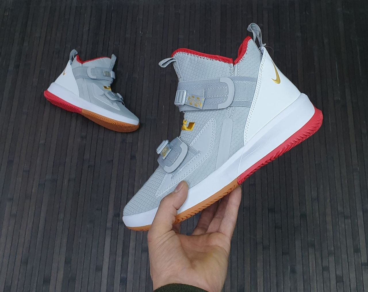 Nike LeBron Soldier 13 Wolf Grey Red Men