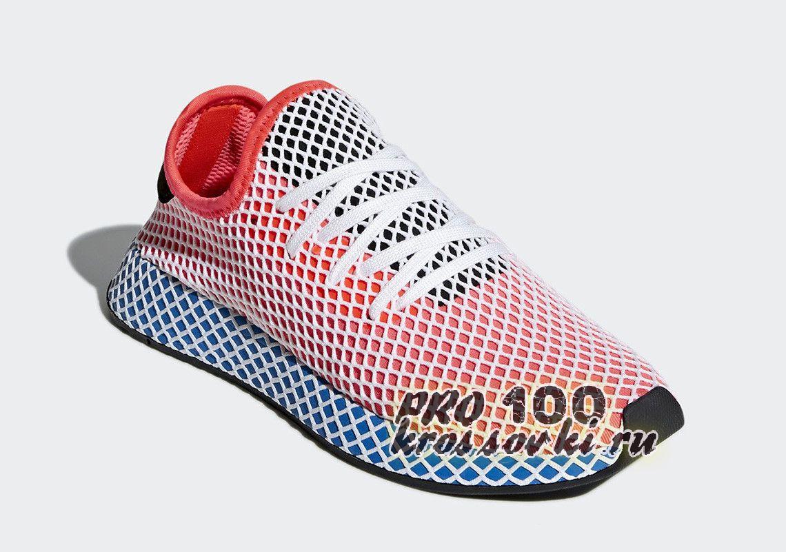 кроссовки  унисекс Adidas Deerupt Red-Blue